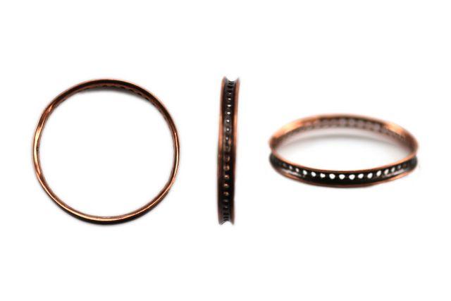 Antique Copper Wheel Large 30×30 mm