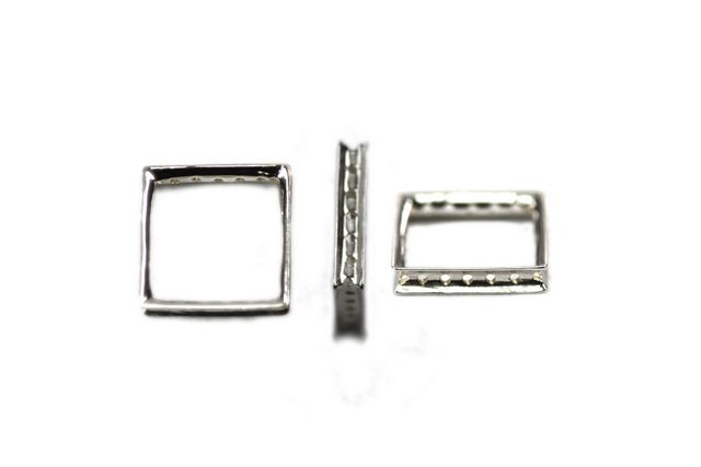 Sterling Silver Cubist Small 16×16 mm