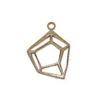 Gold Vermeille Pendant Diamond Cut FPJWV