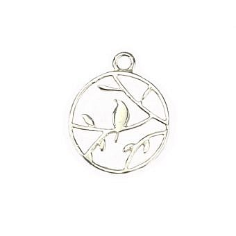 Sterling Silver Pendant Finch in a Tree FPMIS