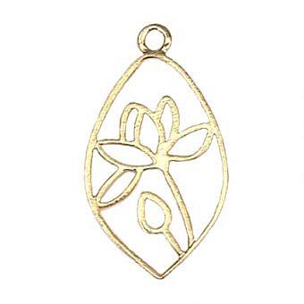 Gold Vermeille Pendant Lotus Pond Drop FPMLV
