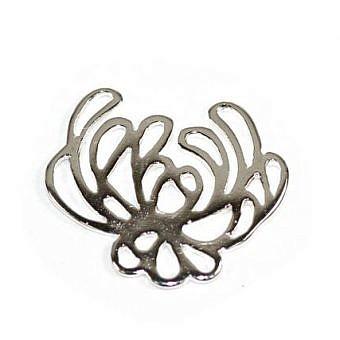 Sterling Silver Pendant Chrysanthemum FPJ0S