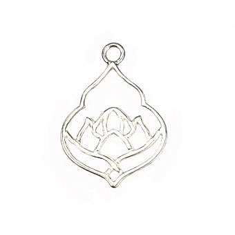 Sterling Silver Pendant Lotus Pond Moroccan FPMKS