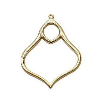 Gold Vermeille Pendant Moroccan Lamp FPHSV