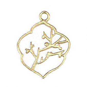 Gold Vermeille Pendant Cherry Tree FPMRV