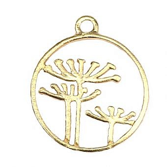 Gold Vermeille Pendant Queen Anne's Lace FPMOV