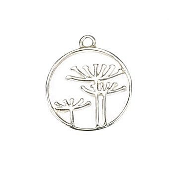 Sterling Silver Pendant Queen Anne's Lace FPMOS