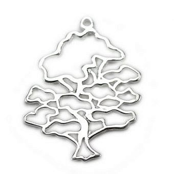 Sterling Silver Pendant Wise Oak Tree FPKCS