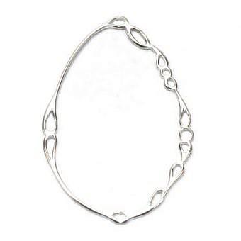 Sterling Silver Pendant Pear Orbit FPIFS
