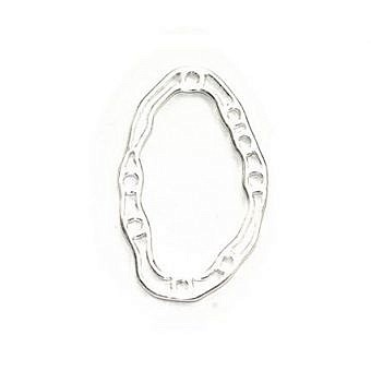 Sterling Silver Pendant Small Amoeba FO74S