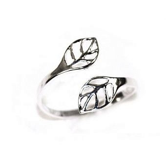 Sterling Silver Ring Leaf Ring Sz 4 to 10 FF00S