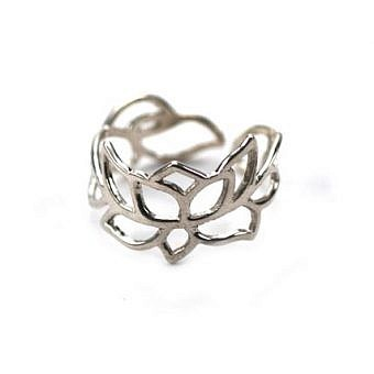 Sterling Silver Ring Ring Lotus Sz 4 to 10 FR0KS