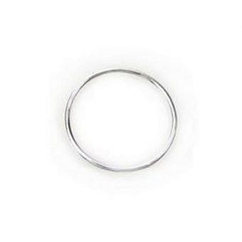 Sterling Silver Soldered Ring Soldered Ring Circle 18GA FN1LS