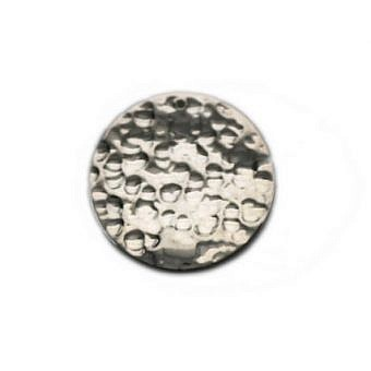 Sterling Silver Tag Hammered Round Plate FH2PS