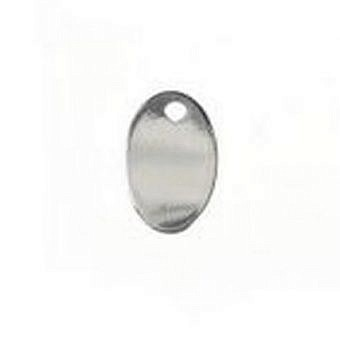 Sterling Silver Tag Tag Oval FT06S