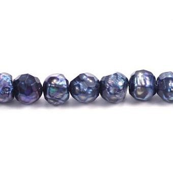 FW Dyed London Blue Round Faceted Round PR00N