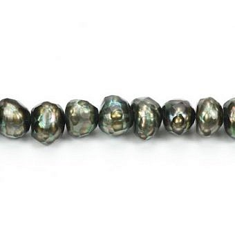 FW Dyed Green Olive Round Faceted Round PR00F